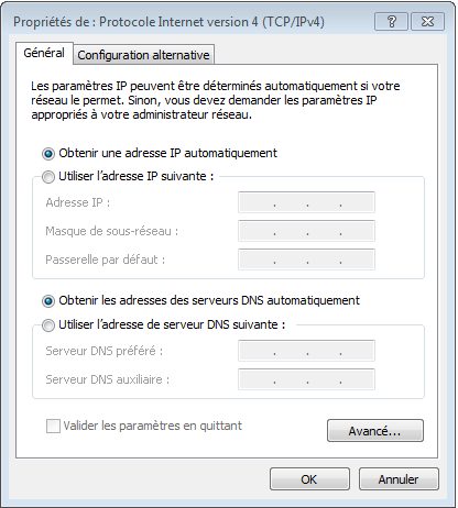 configuration client dhcp win7