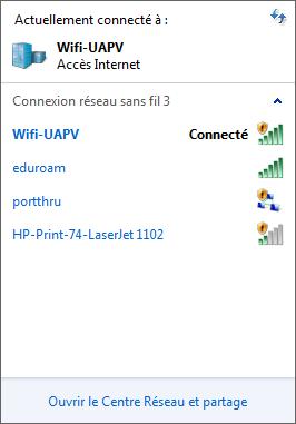 Connexion établie Wifi-UAPV